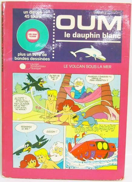 Oum le Dauphin Blanc - Livre-Disque 45T - Le volcan sous la mer - Junior ¨Productions Musique