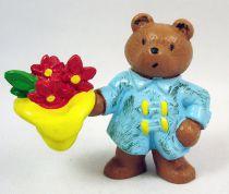 Paddington Bear - Schleich PVC Figure - Paddington with rain coat and flowers