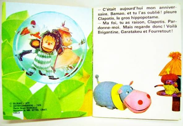 Pépin la Bulle: The birthday of Clapotis - Mini-Comics Gautier-Languereau Editions ORTF 1970