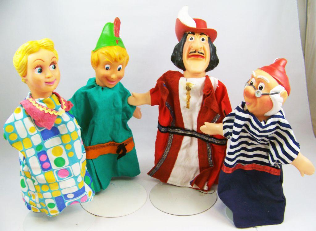 Peter pan s rie de 4 marionnettes main occasion - Image de peter pan ...