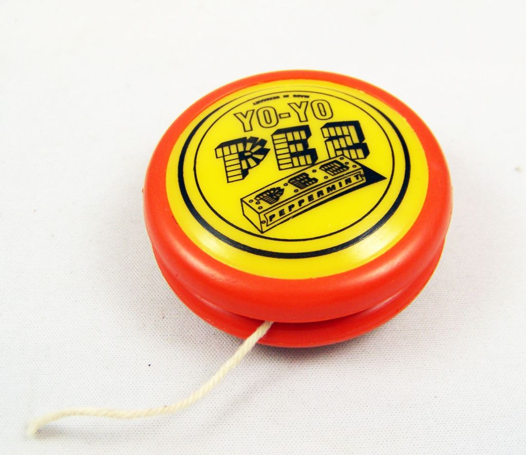 PEZ -  Promotional Yo-Yo - Yoyo (Dark Orange & Yellow)