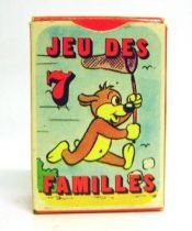 Pif Gadget - 7 families card game with box Pif