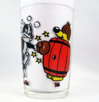Pif Gadget - Amora Mustard glass Pif & Hercule Boxing Match