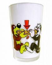 Pif Gadget - Amora Mustard glass Pif & Hercule divide a sandwich