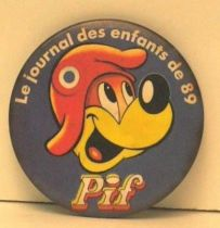 Pif Gadget - Button Pif le journal des enfants 89