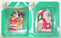 Pif Gadget - Christmas candle cake Pif & Hercule mint card