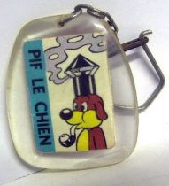 Pif Gadget - Key chain (Vaillant) - Pif the dog (smokes pipe