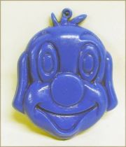Pif Gadget - Plastic money holder Pif blue head