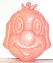Pif Gadget - Plastic money holder Pif pink head