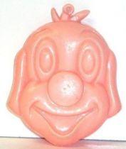 Pif Gadget - Plastic money holder Pif pink head