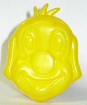 Pif Gadget - Plastic money holder Pif yellow head