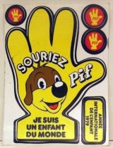 Pif Gadget - Stickers sheet souriez Pif 1979