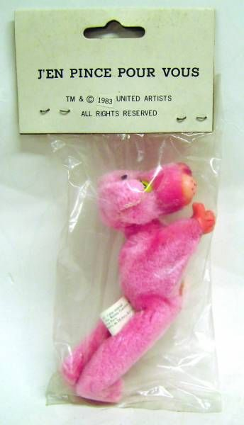 Pink Panther - Nam Jin Industrial inc 1983 - Clip-on plush Pink