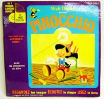 Pinocchio (Disney) - Record-Book 45s - Disneyland Record 1977