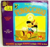 Pinocchio (Disney) - Record-Book 45s - Disneyland Record 1977