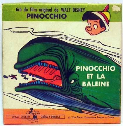 Pinocchio disney film 8mm noir blanc muet - Baleine pinocchio ...