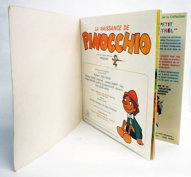 Pinocchio (Série TV) - Livre-Disque 45T - Disques dès / Le Petit Menestrel1981