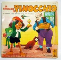 Pinocchio (TV Series)- Record-Book 45s - Disques d�s / Le Petit Menestrel1981