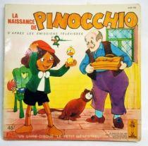 Pinocchio (TV Series)- Record-Book 45s - Disques dès / Le Petit Menestrel1981