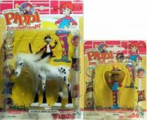 Pipi Langstrumpf , pvc figure , Horse and Pipi with hat