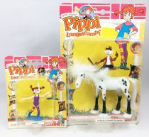 Pipi Langstrumpf - Simba Toys PVC figure - Horse and Pipi in beach outfit