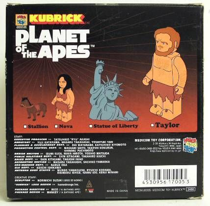 Planet of the apes - Medicom Kubrick - Taylor &  Statue of Liberty w/ Nova & stallion