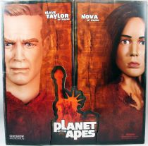 """Planet of the Apes - Sideshow Collectibles - Slave Taylor & Nova 12\"""" figures"""