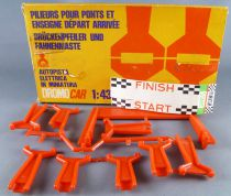 Polistil 724/DN - Piers for Bridge & Start Finish Sign Dromo Car 1:43 Mint in box