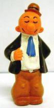 Popeye - Heimo PVC figure - J. Wellington Wimpy (blue tie& brown hat)
