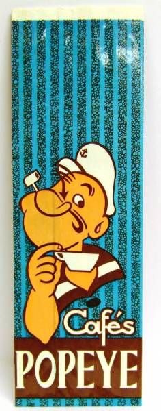 Popeye - Paper bag for Popeye\\\'s Coffee - Blue Bag