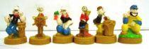 Popeye - Set of 6 Mini-Figures with base
