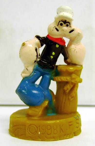 Popeye - Set of 6 Mini-Figures with base