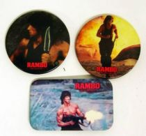 Rambo - Set of 3 Vintage Buttons 1985