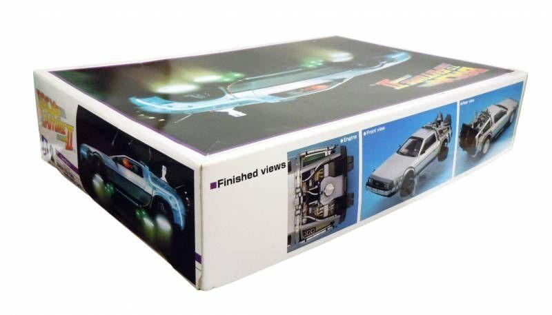 retour vers le futur aoshima model kit delorean time machine type part ii. Black Bedroom Furniture Sets. Home Design Ideas