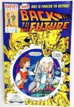 Retour vers le Futur - Harvey Comics - Back to the Future #4 Doc is Forced to Retire!