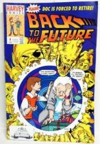 Retour vers le Futur - Harvey Comics - Back to the Future #4 Doc is Forced to Retire!