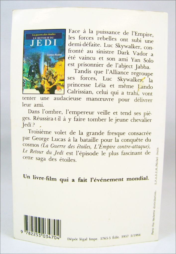 Le Retour du Jedi - Livre de Poche 1984 02