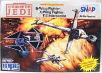 Return of the Jedi - MPC ERTL (Commemorative Edition) - B-Wing, X-Wing & TIE Interceptor 01