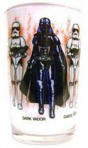 Return of the Jedi 1983 - Amora mustard glass - Darth Vader & Imperial Stormtrooper