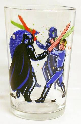 Return of the Jedi 1983 - Amora mustard glass - Darth Vader & Luke