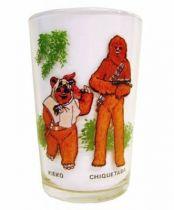 Return of the Jedi 1983 - Amora mustard glass - Kieko (Paploo) & Chiquetaba (Chewbacca)