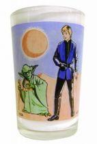 Return of the Jedi 1983 - Amora mustard glass - Yoda & Luke Skywalker Jedi Knight