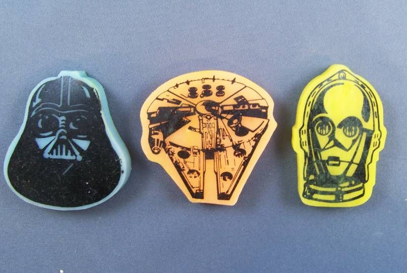 Return of the Jedi 1983 - Lot of 3 Perfumed Erasers