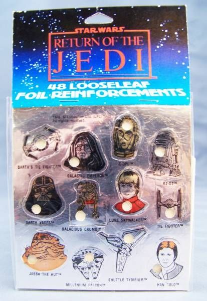 Return of the Jedi 1983 - Set of 48 Looseleaf Foil Reinforcement