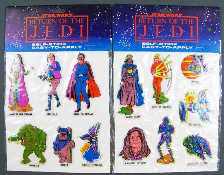 Return of the Jedi 1983 - Stickers Set x2 (Self-Stick / Easy-to-Apply)