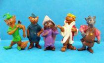 Robin Hood - Complete set of  5 Heimo PVC Figures