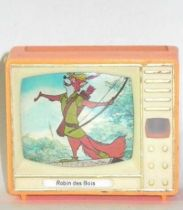 Robin Hood , merchandising ,small tv with stereo pictures