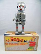 Robot - Robot Marcheur Mécanique & à Pile en Tôle - Mr. Robot the Mechanical Brain (Ha Ha Toys) 01