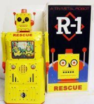 Robot - Battery Operated Tin Robot - Rescue Robot R-1 (Rocket USA)