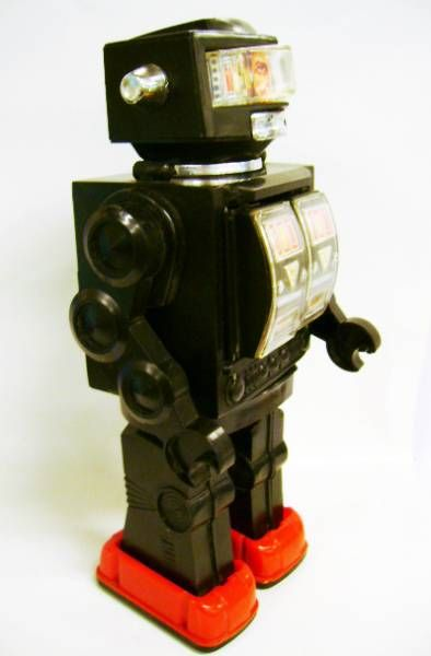 Robot - Battery Operated Walking Robot - Fighting Spaceman